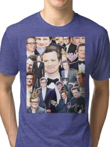 colin firth collage Tri-blend T-Shirt