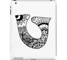 "Hipster Letter ""U"" Zentangle iPad Case/Skin"