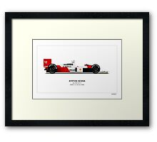 McLaren MP4/4 - Senna Art Print Framed Print