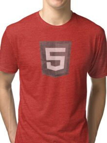 HTML5 Grunge Tri-blend T-Shirt