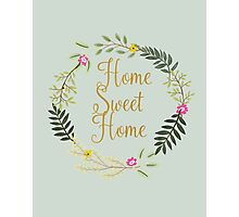 Home Sweet Home Grey-Blue Photographic Print