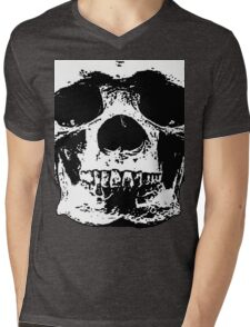 macabre skull design Mens V-Neck T-Shirt