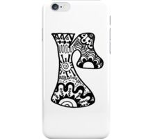 "Hipster Letter ""R"" Zentangle iPhone Case/Skin"