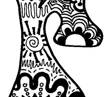 """Hipster Letter """"R"""" Zentangle by alexavec"""