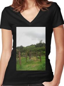 Posts Women's Fitted V-Neck T-Shirt