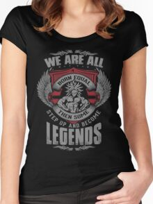 Some Step Up And Become LEGENDS (Broly) Women's Fitted Scoop T-Shirt