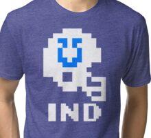Tecmo Bowl Indianapolis Football 8-Bit NES Nintendo Pixel T Shirt Tri-blend T-Shirt