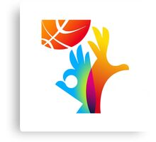 Basketball World Cup 2014 big logo Canvas Print