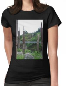 Pipes and Bridge Womens Fitted T-Shirt