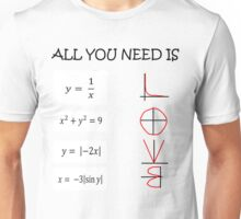 All you need is love - Math  Unisex T-Shirt
