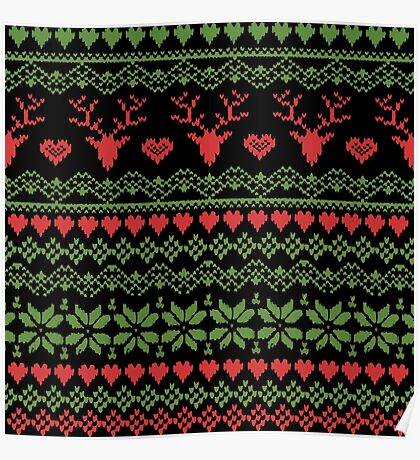 80's Christmas Knitted Sweater Poster