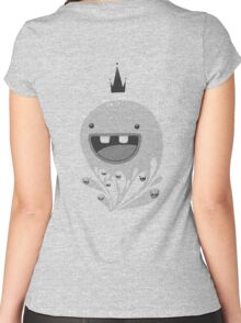 King Lip of the Squiggles (Transparent for Light Tees) Women's Fitted Scoop T-Shirt