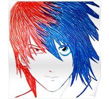 Light Vs L - Death Note Poster
