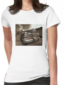 Abandoned 1948 Cadillac Limo Womens Fitted T-Shirt