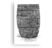 Old Irish Whiskey Barrel Canvas Print