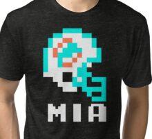 Tecmo Bowl Miami Football 8-Bit NES Nintendo Pixel T Shirt Tri-blend T-Shirt