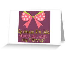 Baby Girl Bow Greeting Card