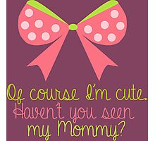 Baby Girl Bow Photographic Print