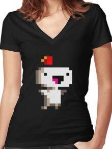 Fez Women's Fitted V-Neck T-Shirt