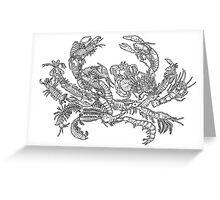 Crustaceans Evolution Tree of Life Greeting Card
