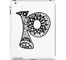"Hipster Letter ""P"" Zentangle iPad Case/Skin"