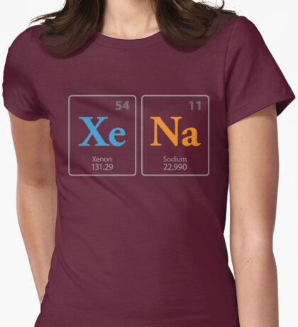 XeNa Elements Womens Fitted T-Shirt