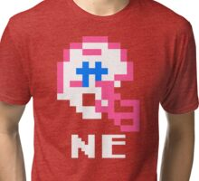 Tecmo Bowl New England Football 8-Bit NES Nintendo Pixel T Shirt Tri-blend T-Shirt