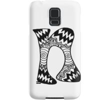"Hipster Letter ""N"" Zentangle Samsung Galaxy Case/Skin"
