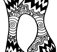 "Hipster Letter ""N"" Zentangle by alexavec"