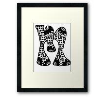 """Hipster Letter """"M"""" Zentangle Framed Print"""