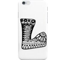 "Hipster Letter ""L"" Zentangle iPhone Case/Skin"