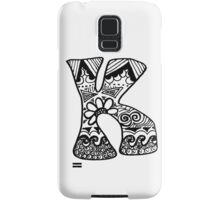 "Hipster Letter ""K"" Zentangle Samsung Galaxy Case/Skin"