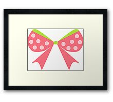 Polka Dot Bow Framed Print