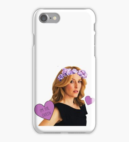 Gillian Anderson Queen iPhone Case/Skin
