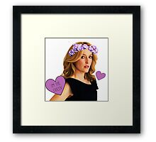 Gillian Anderson Queen Framed Print