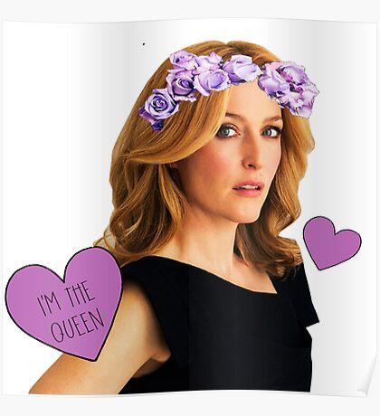 Gillian Anderson Queen Poster