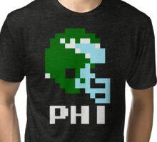 Tecmo Bowl Philadelphia Football 8-Bit NES Nintendo Pixel T Shirt Tri-blend T-Shirt