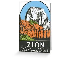 Zion National Park Utah UT State Vintage Travel Decal Greeting Card