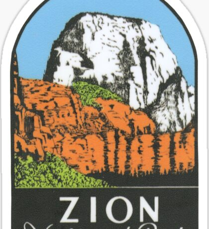 Zion National Park Utah UT State Vintage Travel Decal Sticker