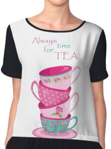 Time For Tea Chiffon Top