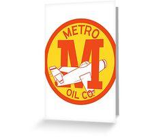 Metro Oil Company Vintage Tshirt Greeting Card