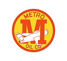 Metro Oil Company Vintage Tshirt Photographic Print