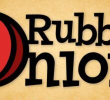RubberOnion Logotype with Border and Fill Sticker