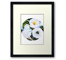 O'Keefe's Flowers - White Framed Print