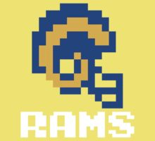 Tecmo Bowl Los Angeles St Louis Football 8-Bit NES Nintendo Pixel T Shirt Kids Tee