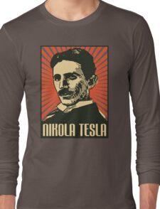 Nikola Tesla Poster Long Sleeve T-Shirt