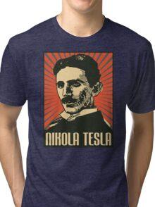 Nikola Tesla Poster Tri-blend T-Shirt