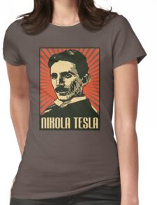 Nikola Tesla Poster Womens Fitted T-Shirt