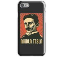 Nikola Tesla Poster iPhone Case/Skin