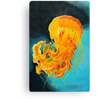 Orange Jellyfish Canvas Print